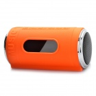 "0.8"" LED Can Style MP3 Player Speaker w/ FM / USB / TF Slot / LED Flashlight - Orange"