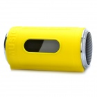 "0.8"" LED Can Style MP3 Player Speaker w/ FM / USB / TF Slot / LED Flashlight - Yellow"