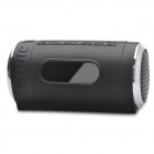"0.8"" LED Can Style MP3 Player Speaker w/ FM / USB / TF Slot / LED Flashlight - Black"