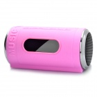 "0.8"" LED Can Style MP3 Player Speaker w/ FM / USB / TF Slot / LED Flashlight - Pink"