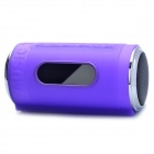 "0.8"" LED Can Style MP3 Player Speaker w/ FM / USB / TF Slot / LED Flashlight - Purple"