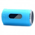 "0.8"" LED Can Style MP3 Player Speaker w/ FM / USB / TF Slot / LED Flashlight - Blue"
