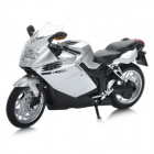1:12 BMW K1200S Model Motorcycle for Display / Collection - Silver + Black