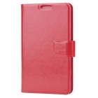 Protective PU Leather Flip-Open Case for Samsung Galaxy Note / i9220 / GT-N7000 - Red