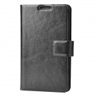 Protective PU Leather Flip-Open Case for Samsung Galaxy Note / i9220 / GT-N7000 - Black