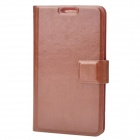 Protective PU Leather Flip-Open Case for Samsung Galaxy Note / i9220 / GT-N7000 - Brown