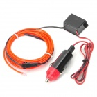 Car Charger Powered 0.6W 85CD / CM2 Electro-Luminescent Light Strip (DC 12V / 2 Meters)