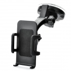 Universal Car Swivel Suction Cup Mount Holder for Cell Phone - Black