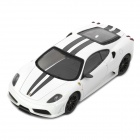 DIY 1:43 Ferrari F430 Assembly Model Kit Car Toy - White (20 Pieces)