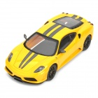 DIY 1:43 Ferrari F430 Assembly Model Kit Car Toy - Yellow (20 Pieces)