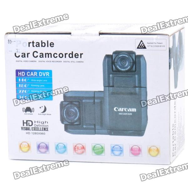 "Wide Angle Car DVR Camcorder w/ 2-LED Night Vision / TF (2"" LCD)"