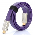 MOSHOU 24K Gold Plated HDMI 1.4 Male to Male Flat Connection Cable (100cm)