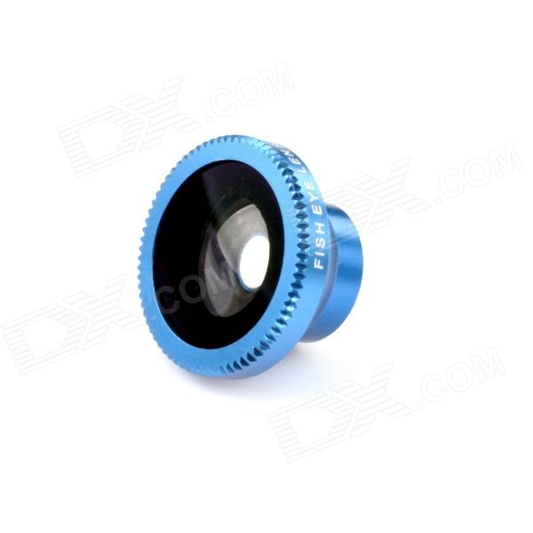 Detachable 180-Degree Wide Angle Fish Eye Lens for Cell Phones and Digital Cameras - Blue + Black