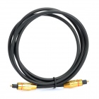Optical Fiber Digital Audio Toslink Male to Male Cable - Golden Plug (150cm)