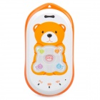 GK301 GPS GSM мобильный телефон для Kid ж / Quad-Band, один SIM-карты, SOS и Ultra-Low Radiation - Orange