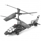 Mini Rechargeable 2-CH R/C Helicopter with IR Remote - Black