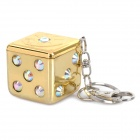 Mini Portable Dice Shaped Pocket Ashtray Keychain - Random Color