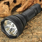 FandyFire HD2010 XM-L T6 5-Mode 1800LM 3-LED White Flashlight w/ Strap - Black (1x18650 / 1x26650)