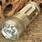 FandyFire UV-S5 CREE XM-L T6 3-Mode 3000LM 3-LED White Flashlight w/ Strap - Yellow (4 x 18650)