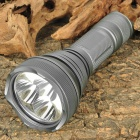 FandyFire HD2010 XM-L T6 5-Mode 1800LM 3-LED White Flashlight w/ Strap - Grey (1x18650 / 1x26650)