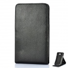 Protective PU Leather Top-Flip Open Case for Samsung i9220 - Black