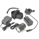 1000LM 3-LED 3-Mode White Bike Light avec support de montage et batterie (4 x 18650)