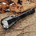 UltraFire WF-500 Samsung 3535 5-Mode 3000LM Memory 6-LED White Flashlight - Black (2 x 18650)