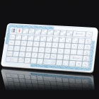 Mini Handheld Rechargeable 73-Key Bluetooth V2.0 Wireless QWERTY Keyboard - White