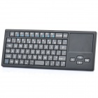 "Mini Handheld Rechargeable 68-Key Bluetooth V2.0 Wireless Keyboard w/ 2.1"" Mouse Touchpad - Black"