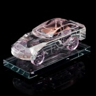 Crystal Car Model Style Perfume Bottle Container - Transparent + Pink