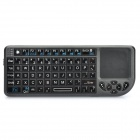 "Mini Handheld Rechargeable 66-Key Bluetooth V2.0 Wireless Keyboard w/ 1.7"" Mouse Touchpad - Black"