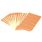 8mm Round Style Paper Self Adhesive Labels - Red (15-Paper Pack)