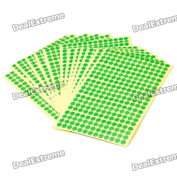 8mm-round-style-paper-self-adhesive-labels-green-15-paper-pack