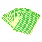 8mm Round Style Paper Self Adhesive Labels - Green (15-Paper Pack)