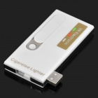 Multi-function USB Rechargeable Electronic Cigarette Lighter with White LED Light - White
