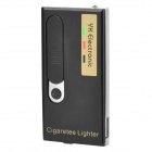 Multi-function USB Rechargeable Electronic Cigarette Lighter with White LED Light - Black