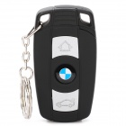 BMW Logo Windproof Butane Lighter with White 1-LED Flashlight / Keychain - Black