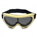 Tactical Metal Mesh Protective Goggles for War Game - Grey + Black