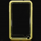 Protective Bumper Frame Case for Samsung Galaxy Note i9220 - Yellow + Translucent