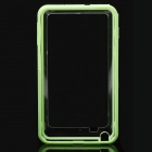 Protective Bumper Frame Case for Samsung Galaxy Note i9220 - Green + Translucent