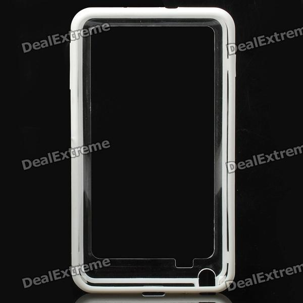 Protective Bumper Frame Case for Samsung Galaxy Note i9220 - White + Translucent mhl docking station for samsung galaxy note i9220 black silver