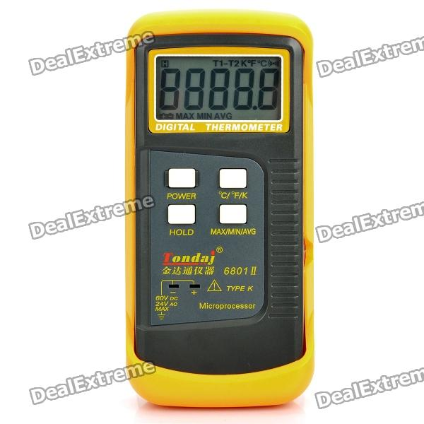 "2.1"" LCD Digital Thermometer Handheld Temperature Tester (1 x 9V 6F22)"