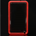 Protective Bumper Frame Case for Samsung Galaxy Note i9220 - Red + Translucent