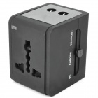 Universal Travel Power Plug Adapter - Black (US / EU / AU / UK)
