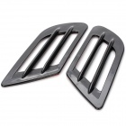 Universal Car Air Intake Decorative Stickers - Black (Pair)