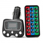"1.1"" LCD MP3 Player FM Transmitter w/ TF Slot - Black (DC 12~24V)"