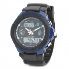 Sports Diving Wrist Watch w/ EL Backlit / Week / Stopwatch / Alarm Clock - Blue (1 x CR2016)