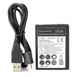 Replacement 3.7V 1900mAh Battery w/ USB Charging Cable for Samsung Galaxy Nexus / Prime / i9250