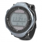 Sports Solar Power Diving Wrist Watch w/ EL Backlit / Week / Stopwatch / Alarm - Grey (1 x CR2025)