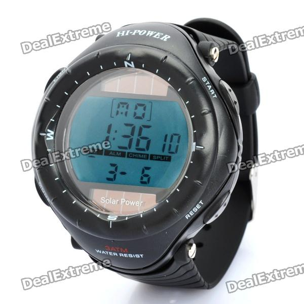 Sports Diving Wrist Watch w/ EL Backlit / Week / Stopwatch / Alarm Clock (Solar Powered / 1xCR2025)